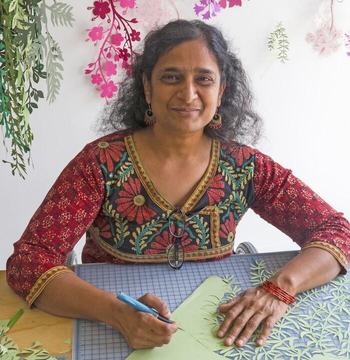 Artist Bhavna Mehta at work.