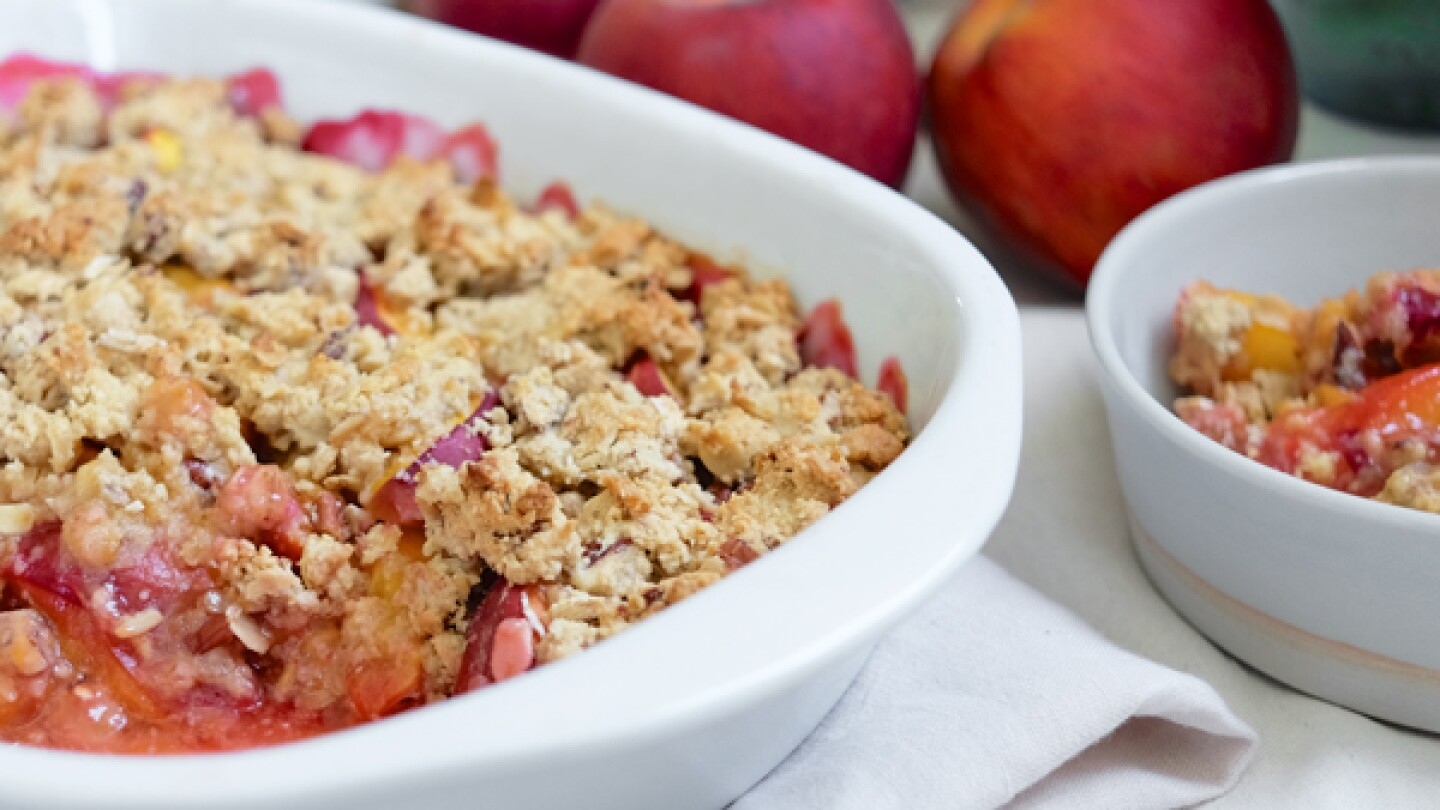 Maple Bourbon Peach Crumble