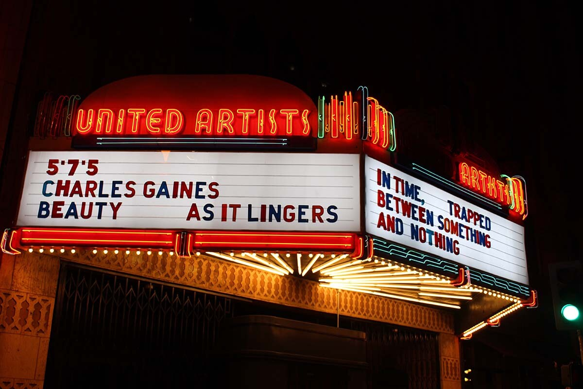 Charles Gaines' haiku at Ace Hotel | Courtesy of Ace Hotel DTLA