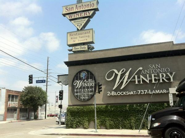 Signs for San Antonio Winery