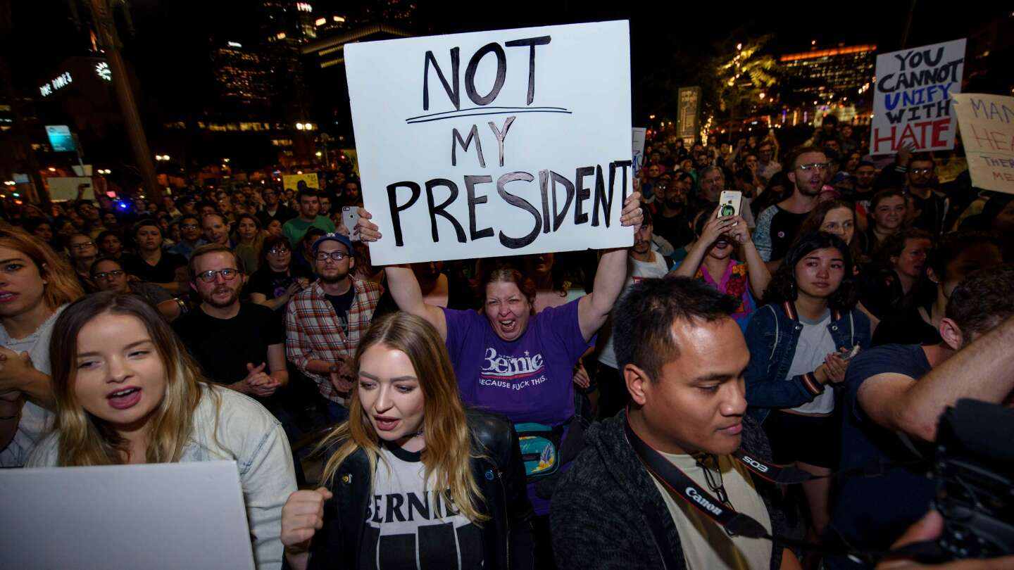 Thousands in Los Angeles protest the election of Donald Trump. IMAGE BY Sipa USA via AP Images