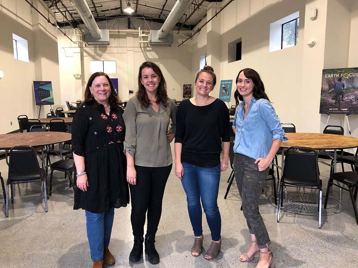 "L-R: Michelle Garza, Ashley Gain, Angela Boisvert, Erin Ball all worked to organize the first ever ""Fine Cut Student Workshop"""