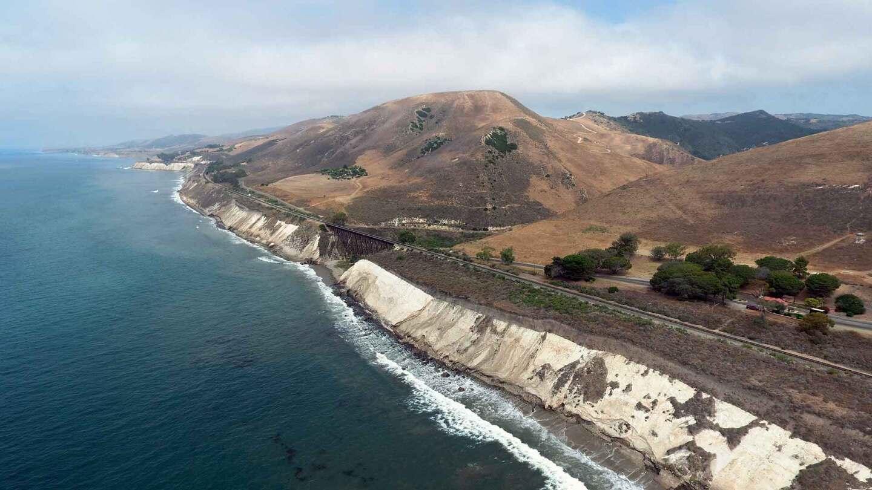Aerial view of coastline at Hollister Ranch.   Gevork Mkrtchyan