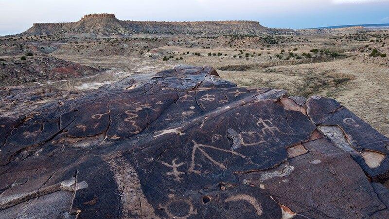 Petroglyphs in New Mexico's Ojito Wilderness