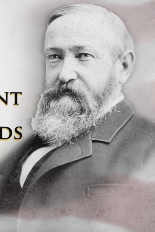 """Promo image of Benjamin Harrison for """"A President at the Crossroads."""""""