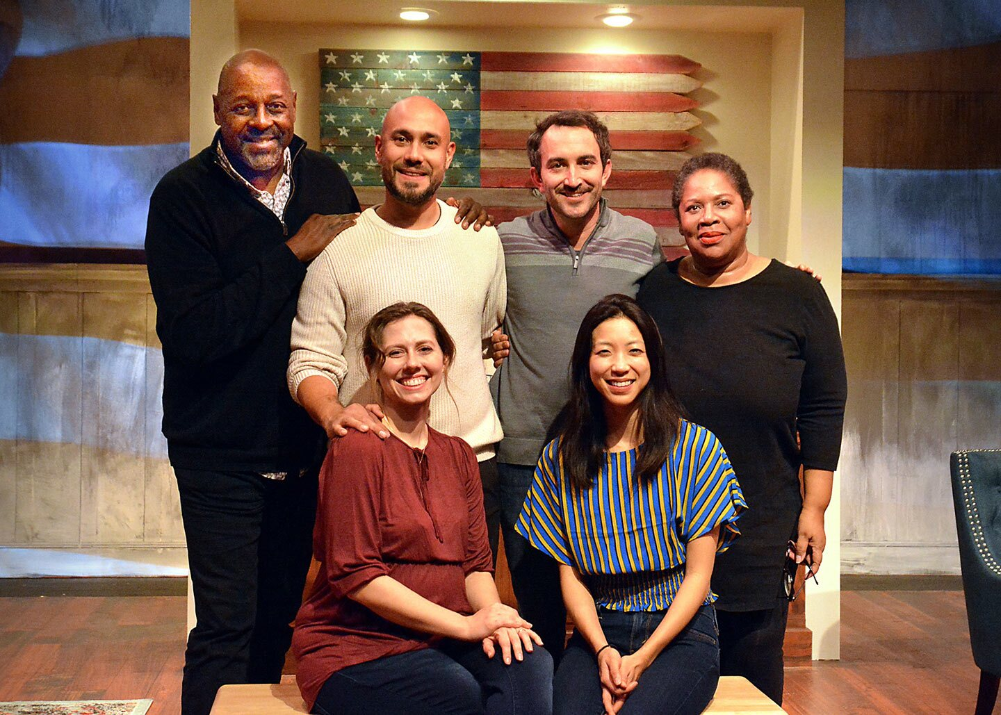 Clockwise from top left: Director Michael A. Shepperd, actors Andres M. Baggs and Clayton Farris, writer Penelope Lowder and actors Allison Blaize and Jenny Soo. | Ed Krieger