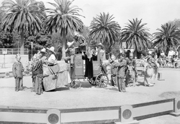 South Park hosted this circus performance in 1931. Courtesy of the USC Libraries - Dick Whittington Photography Collection.