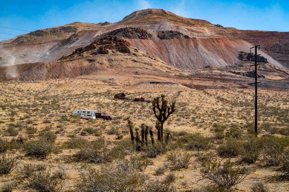 The Canadian-owned Golden Queen Mine in Mojave, California, runs 24/7 on Soledad Mountain, located just west of State Route 14. As of July 2019, it is the only cyanide heap leach operational within the Mojave Desert. | Kim Stringfellow.