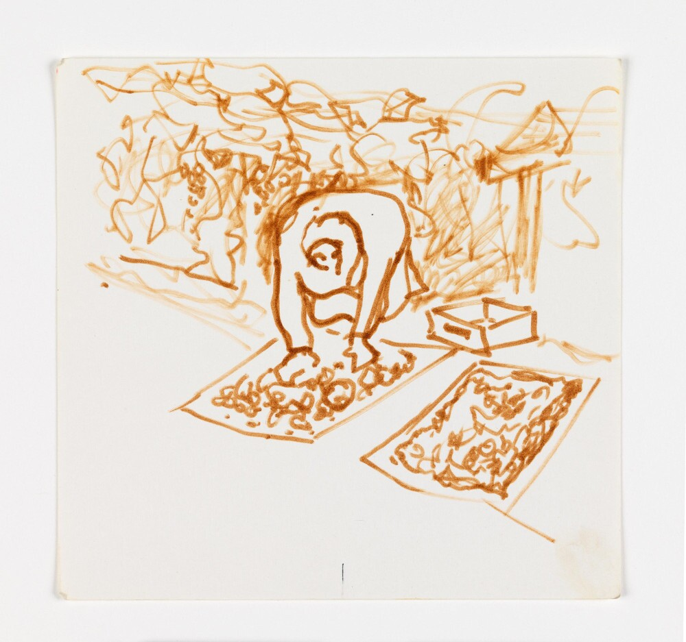 """José Montoya, """"Untitled,"""" date unknown. Ink on paper. 14.5 x 15 cm. Courtesy of the Montoya Family Trust."""