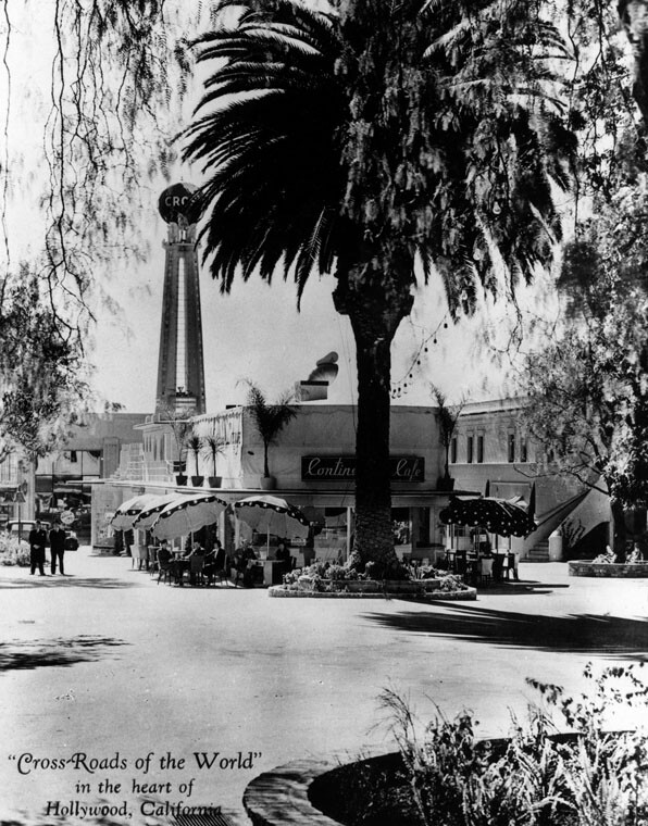 Crossroads of the World, 1937 | Courtesy of the Los Angeles Public Library