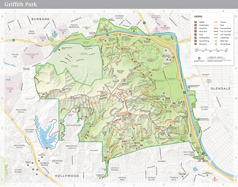 Map of Griffith Park | LAParks.org