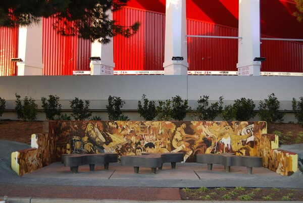 'Moments' mural at the Forum by Michael Massenburg | http://www.michaelmassenburg.com