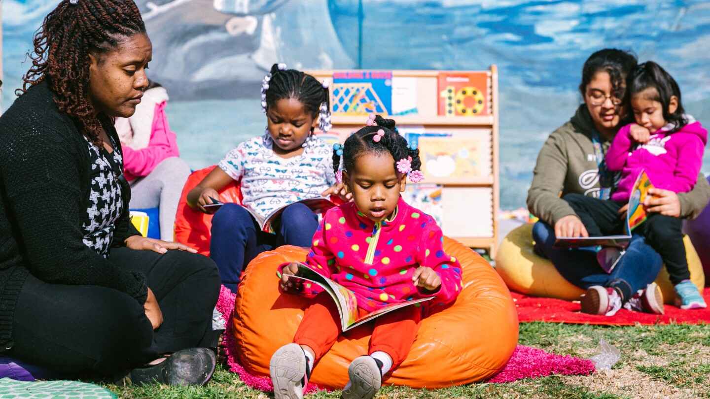 Families read at PBS SoCal event