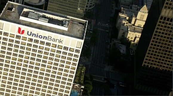 "Union Bank Tower | ""The Sky Above"" by Kamau Patton. Video by Machine Project."