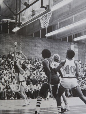 Dwayne Sims waiting for the rebound, in 1978   Photograph by Douglas McCulloh