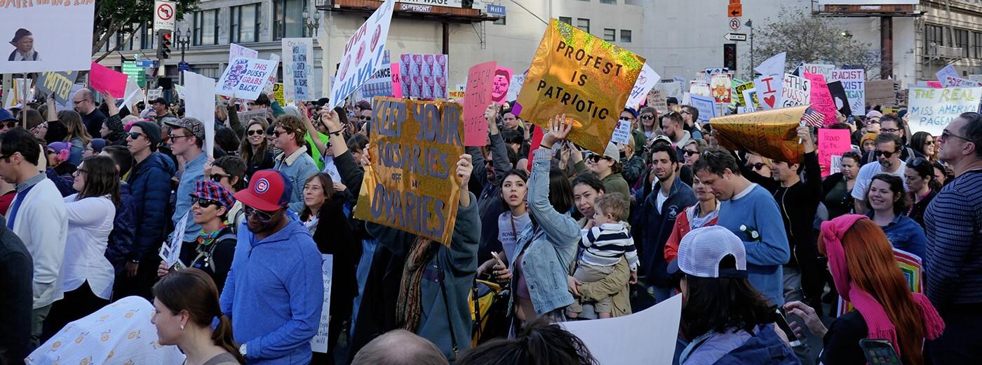 Women's March: Banner
