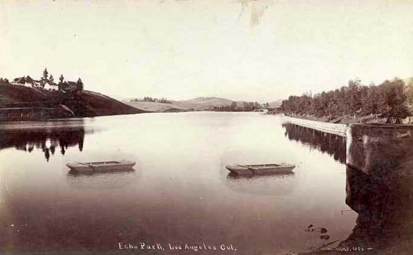 Echo Park, circa 1895. Photo by W. H. Fletcher, courtesy of the W.H. Fletcher Collection, California State Library