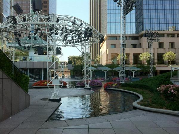 The Water Court at California Plaza - site of Grand Performances