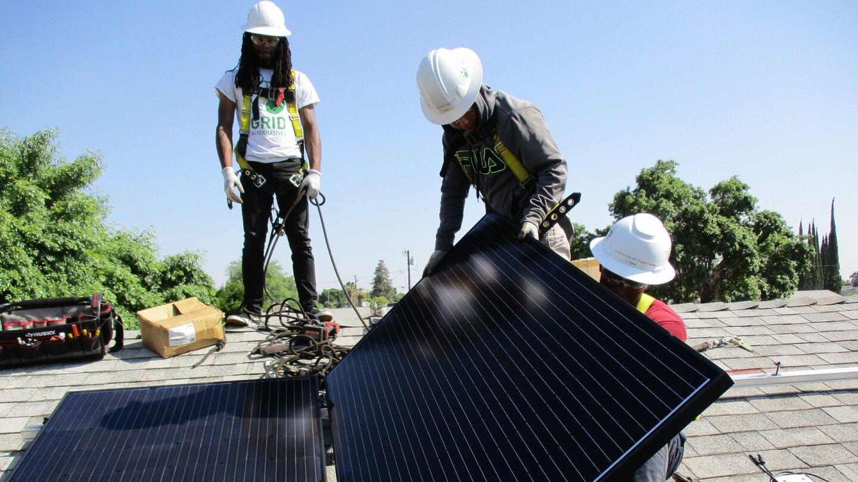 Grid Alternatives solar panel installation