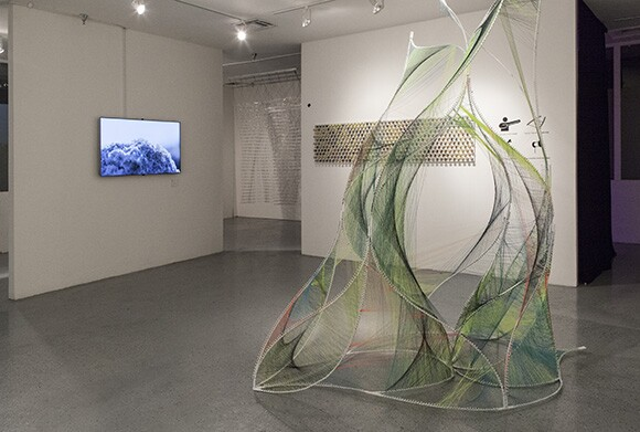 Installation view, Blindspot Initiative, Keystone Gallery, 2014. | Photo: Mark C. Harvey/Fluxion.net.<br />