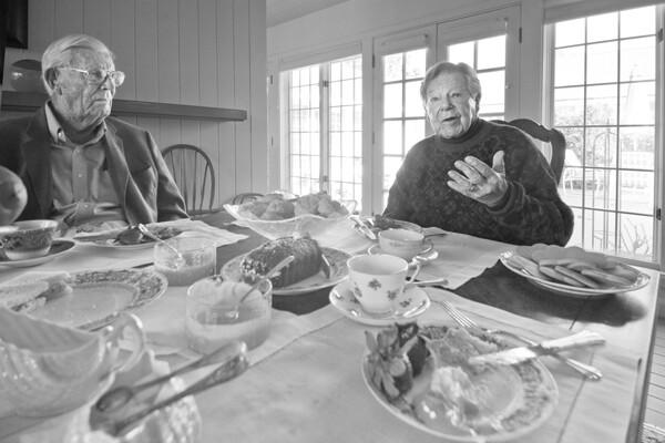 Arthur Littleworth and Justice John Gabbert. | Photo: Douglas McCulloh