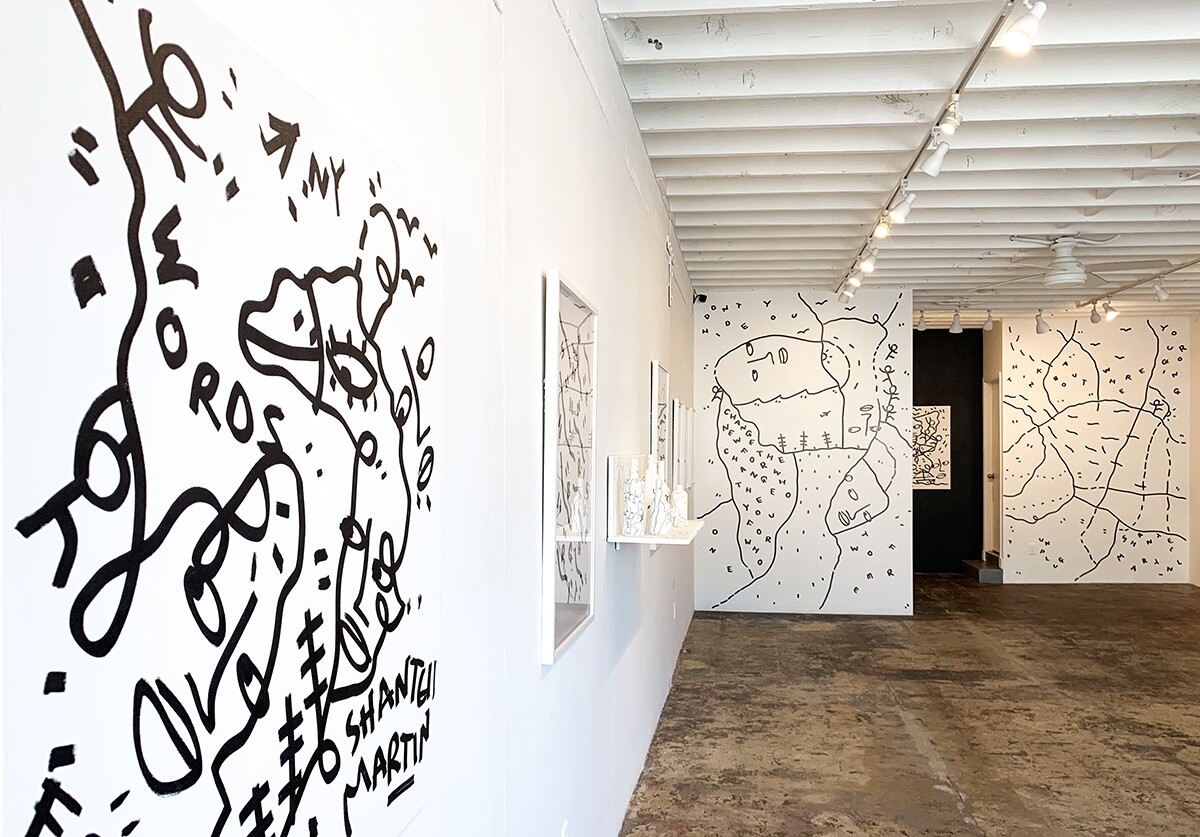 "Shantell Martin's exhibition at Band of Vices entitled ""Waves"" January 25-February 22, 2020 