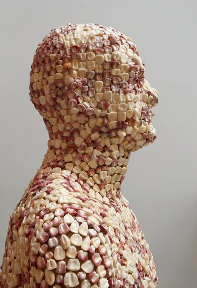 Detail of Corn Man | Courtesy of BC Space PST LALA Talking to Action