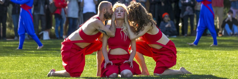"Lita and Jasmine Albuquerque ""hearth"" performance at Desert X (primary)"