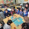 Teaching Artist Leah Padow's visual arts class at Playa del Rey Elementary; Photo generously taken by Alex de Cordoba | Courtesy of P.S. Arts