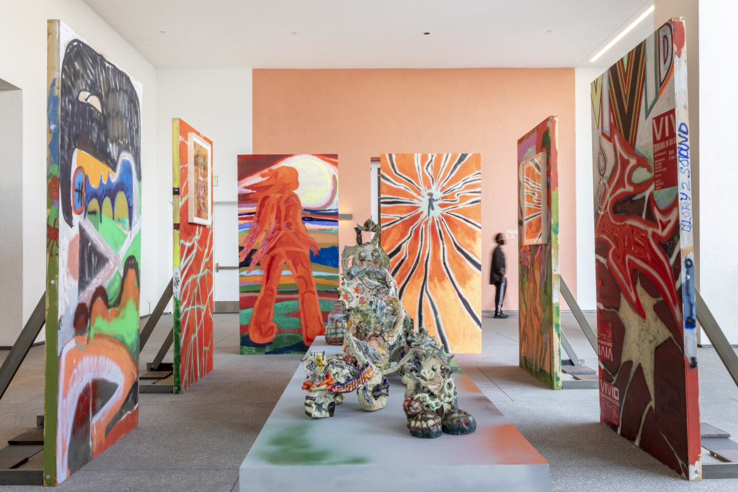 "An installation view of Sonya Sombreuil's work at ""Made in L.A. 2020: a version."" at Hammer Museum, Los Angeles. 