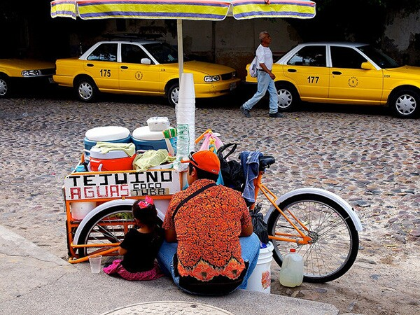 Street vending is part of Latin America's entrepreneurial tradition. Tejuino, in particular, is a street treat that in the U.S. has made its way into official shops.