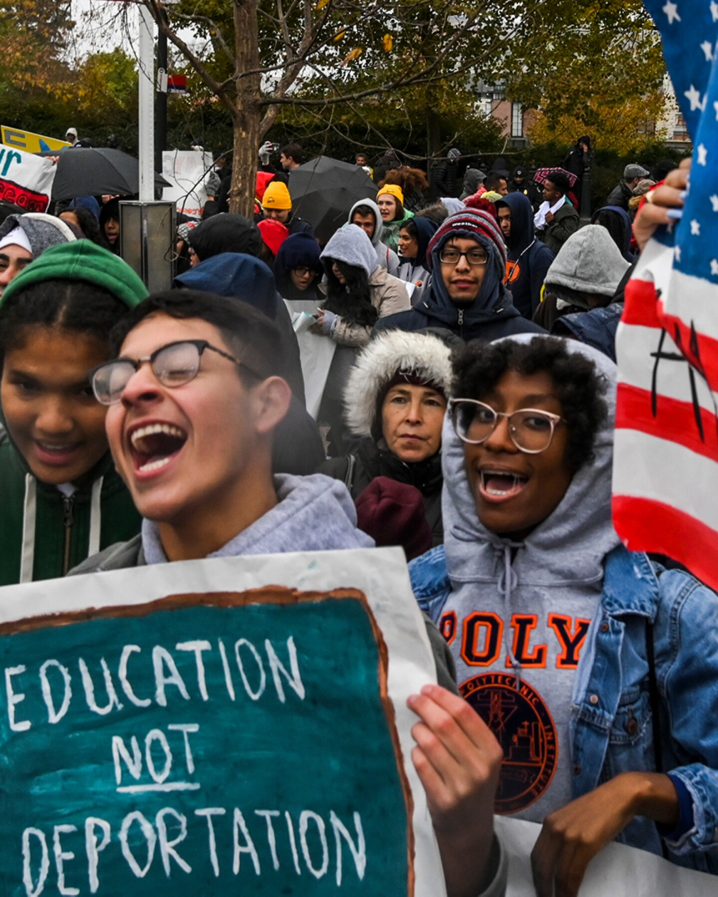Demonstrators gather in front of the United States Supreme Court, where the Court is hearing arguments on Deferred Action for Childhood Arrivals - DACA. | Jahi Chikwendiu/The Washington Post via Getty Images