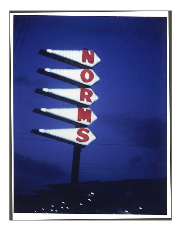 Norms Restaurant, La Cienega Blvd. Los Angeles, 2001. T-79 4 x 5 Polaroid. | Photo: Jim McHugh.