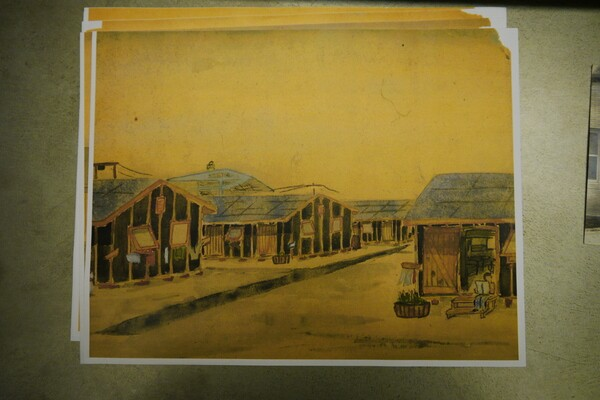 Jerry's father Soichi painted watercolors while interned at Heart Mountain during WWII