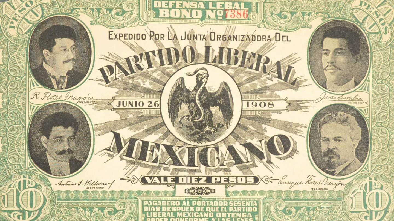 Legal Defense Bond issued by the Organizing junta of the Partido Liberal Mexicano, 1908. Courtesy of El Archivo Electrónico Ricardo Flores Magón. Regeneracion featured