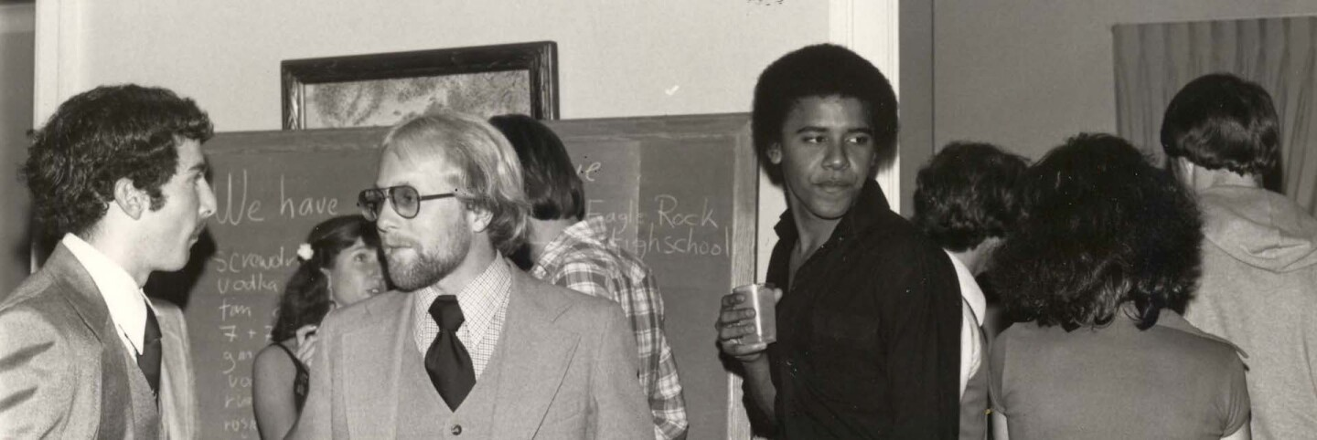 Obama at Oxy. Courtesy of the Occidental College Archives