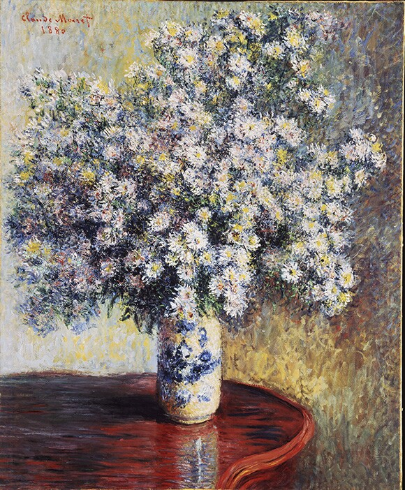 "Claude Monet. ""Asters,"" 1880, Oil on canvas, 32 3/4x26 3/4 in. (83.2x67.9cm)"