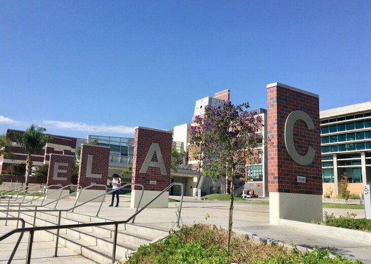 East Los Angeles College is one of nine campuses in the L.A. Community College District. | Adolfo Guzman-Lopez/LAist