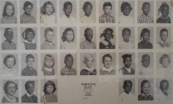 Manhattan Place Elementary School class photo in 1964. | Photo: Courtesy Kris Aubry