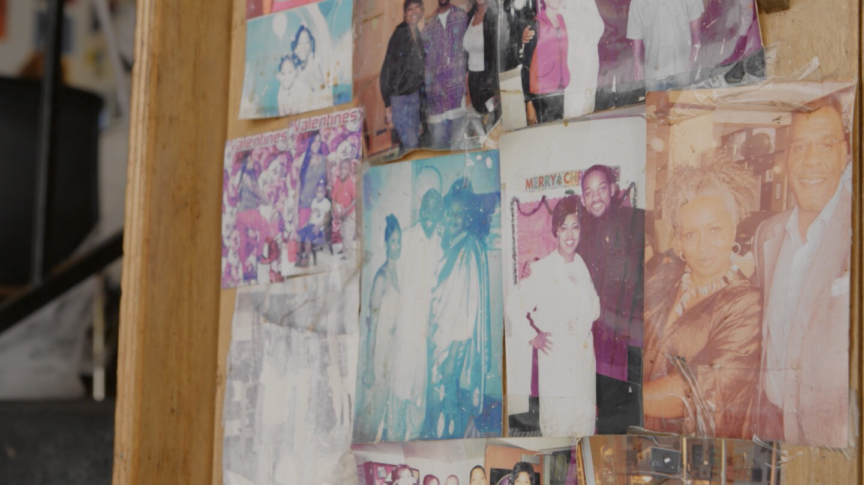 Memorabilia and photos at Watts Coffee House.
