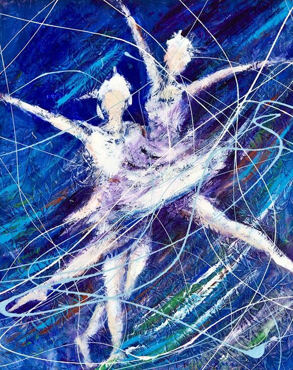 """Ballet in blue"" | Reza Sepahdari"