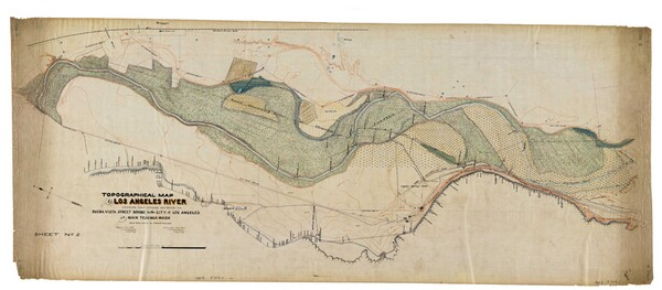 1897 L.A. River by J.H. Dockweiler shows the shifting shape of the river
