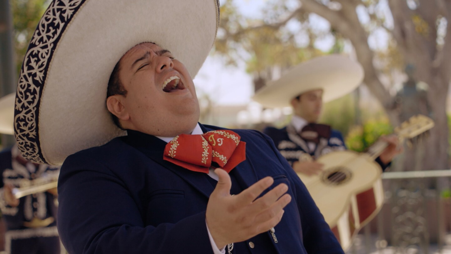 "Julian Torres in mariachi outfit | Still from ""Southland Sessions"" S1 E3: Mariachi - from Romance to Resistance"