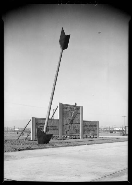 Leimert Park sign for 'Small Homes Exhibit, 1928 | Dick Whittington Studio, Courtesy of the USC Digital Library