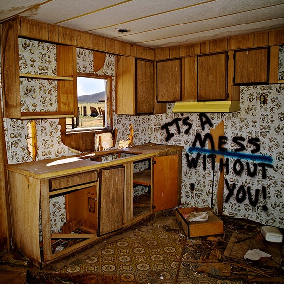 """""""It's a Mess Without You!,"""" Cinco, CA, 2011. Abandoned farm worker's trailer, now demolished. Currently construction site for Beacon Solar Energy Project. 