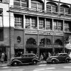Circa 1940s view of Clifton's Cafeteria's original art deco facade, revealed today for the first time since the early 1960s. Courtesy of the Dick Whittington Photography Collection, USC Libraries.