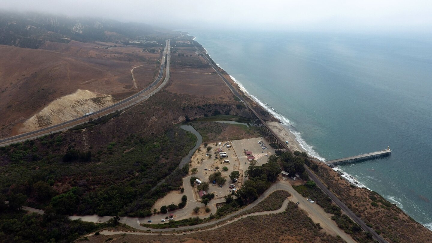 Aerial view of the 101 turning at Gaviota State Park. | Gevork Mkrtchyan