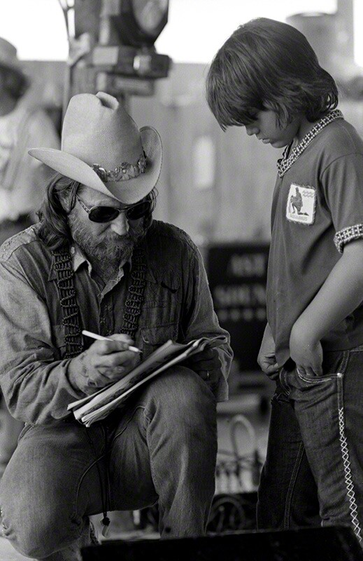 Willie Nelson, Texas, c. 1974 © Raeanne Rubenstein