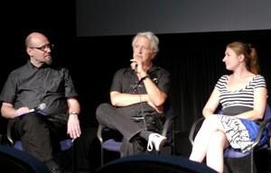 L to R: panelists Hoberman, Zone and Benna