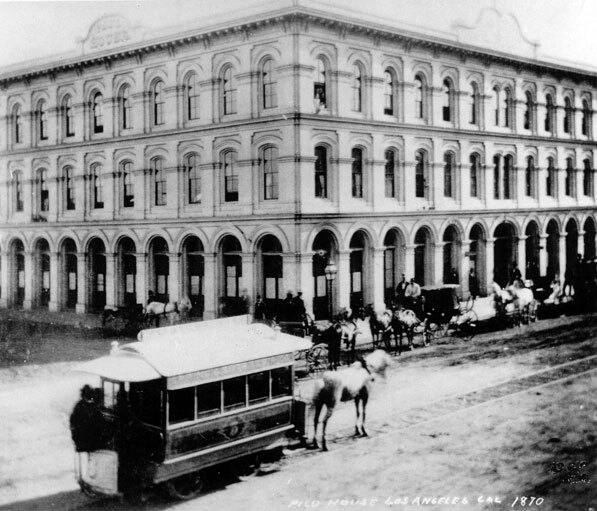 The opening of the Pico House in 1870 marked the end of the Bella Union's reign as L.A.'s finest hotel. Courtesy of the Watson Family Photo Archive.